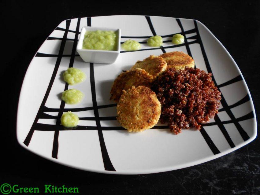 Galettes de tofu et coulis de poireaux