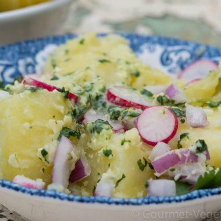 Salade de pommes de terre au pesto de coriandre