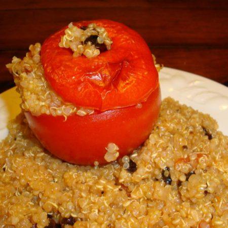 Tomates farcies au quinoa, parfums de Provence