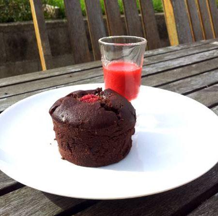 Muffins choco-framboise