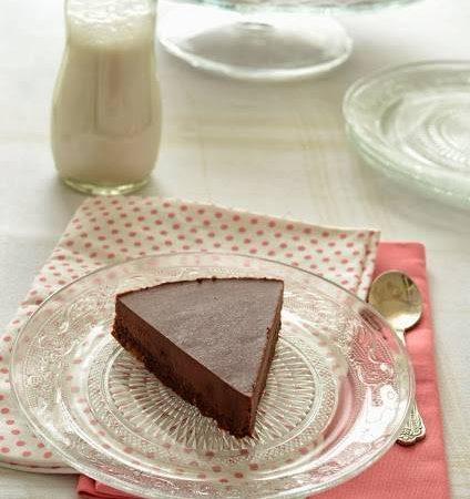 Tarte au chocolat crue