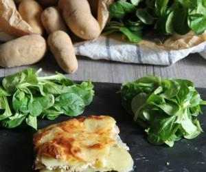 Gratin pommes de terre - champignons