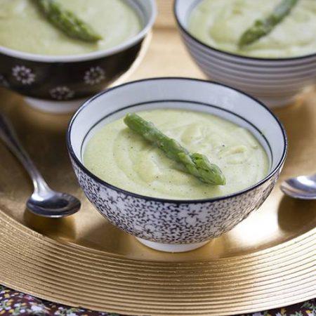 Crème de millet aux asperges vertes