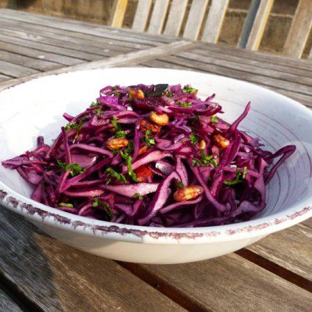 Salade de chou rouge et graines