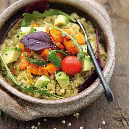 Kasha de quinoa aux petits légumes
