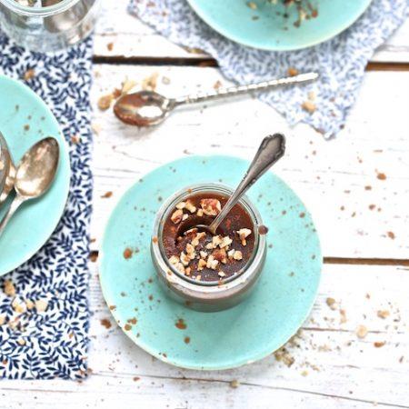 Petits pots de crème caroube – noisette
