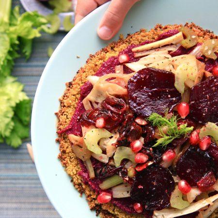 Fenouil caramélisé sur croustinette de quinoa