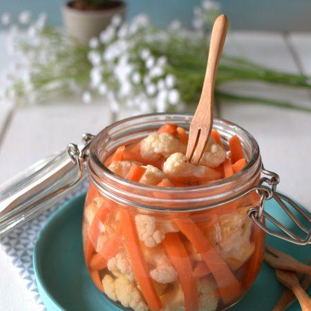 Légumes croquants au vinaigre