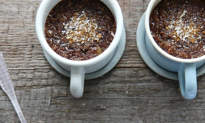 Du quinoa au petit-déjeuner ! { quinoa pudding }