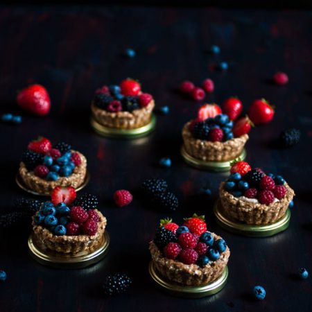 tartelettes fruits rouges vegan