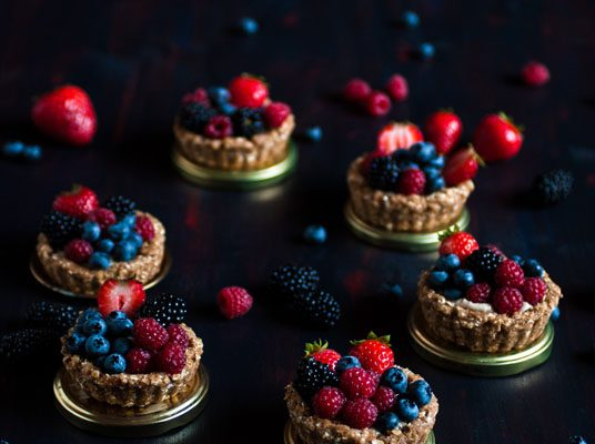 tartelettes fruits rouges vegan