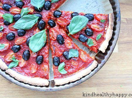 Tarte Tomates-Olives-Basilic
