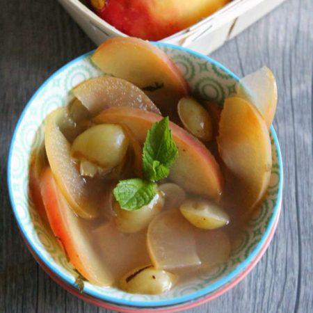 Soupe pommes et raisin