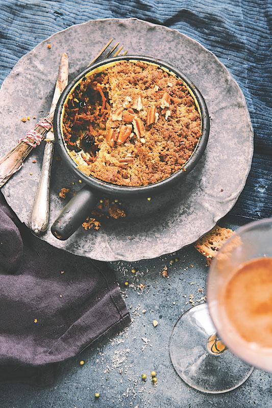 Crumble salé aux légumes d'hiver et noix de pécan - 1.2.3