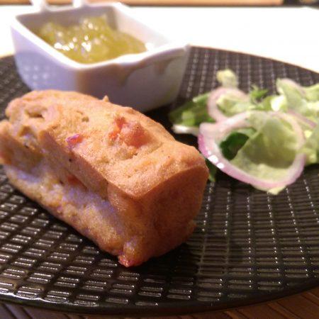 Mini cakes au curry & poivron