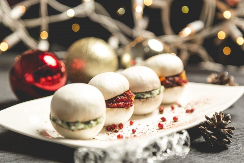 Macarons salés de Noël