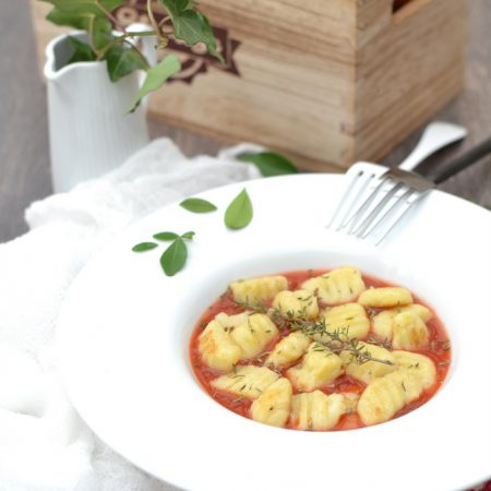 Gnocchis véganes de pomme de terre