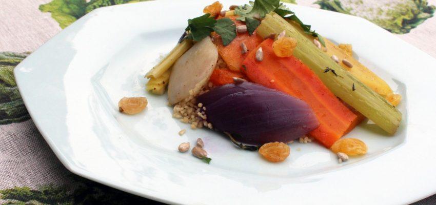 Couscous aux sept légumes d'hiver à la vapeur