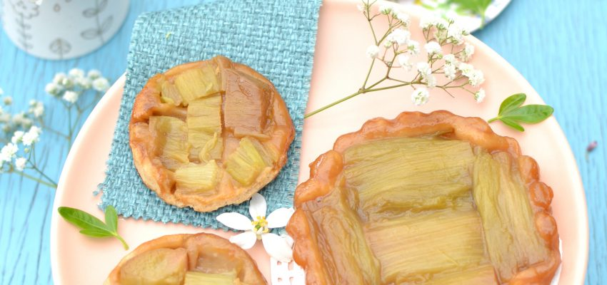 Tartelettes tatin à la rhubarbe