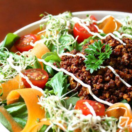Quinoa épicé mexicain & légumes colorés