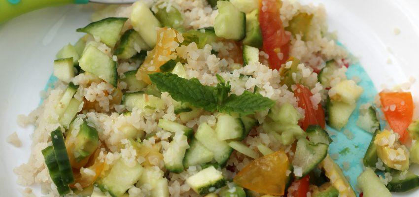 Salade de semoule pour bébés