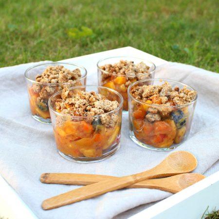 Crumble abricot & nectarine sans cuisson