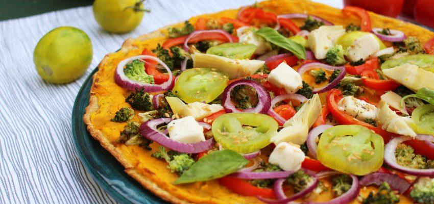 Pizza aux légumes de fin d'été