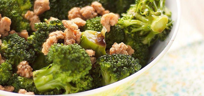 Salade tiède de brocolis