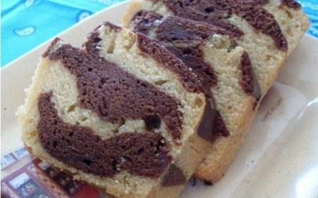 Cake marbré chocolat, vanille