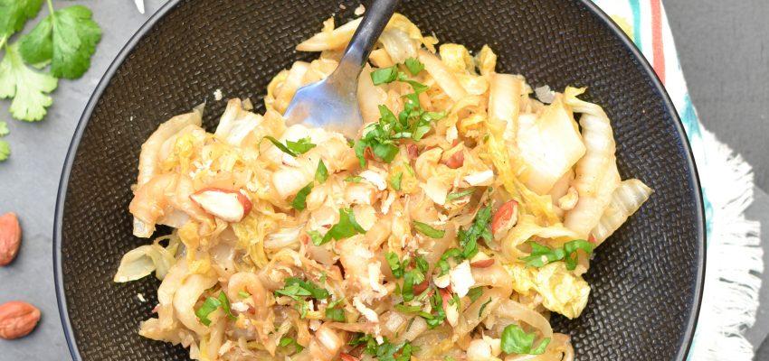 Wok de chou chinois saut aux noisettes et s same 1 2 3 - Cuisiner du chou chinois ...
