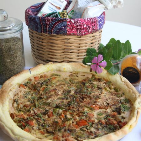 Quiche à l'indienne curry-coco
