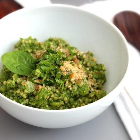 Risotto de sarrasin, épinard et brocoli