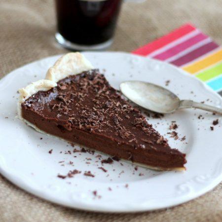 Tarte au chocolat et courge végane