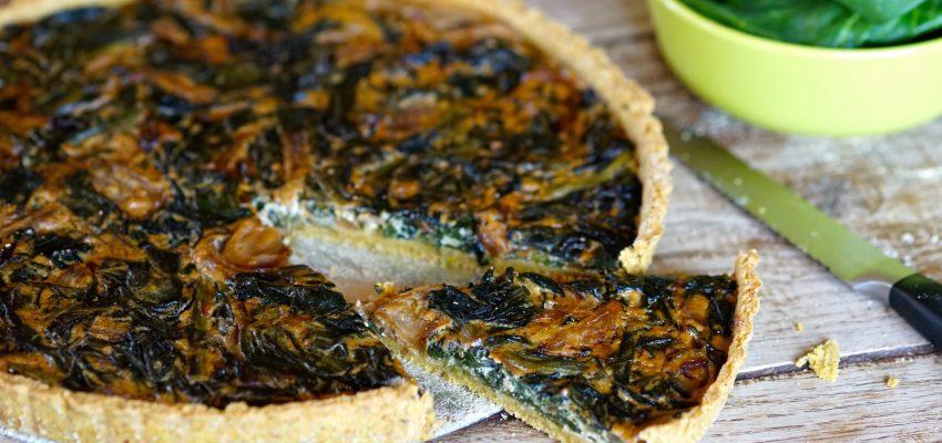 Tarte salée épinards — oignons