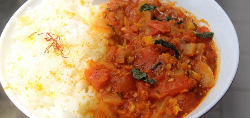 Bolognaise express et riz au safran
