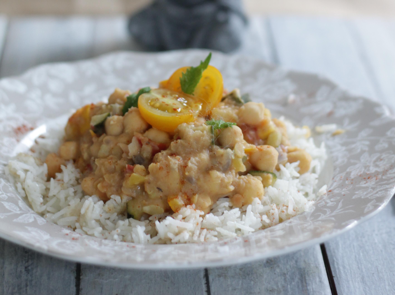 Dhal de lentilles corail pois chiches et courgettes 1 2 3 veggie - Comment cuisiner les lentilles corail ...