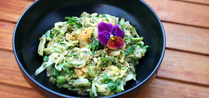 Salade crémeuse de fenouil, céleri et algues
