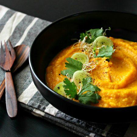 Purée carotte et patate douce à l'orange