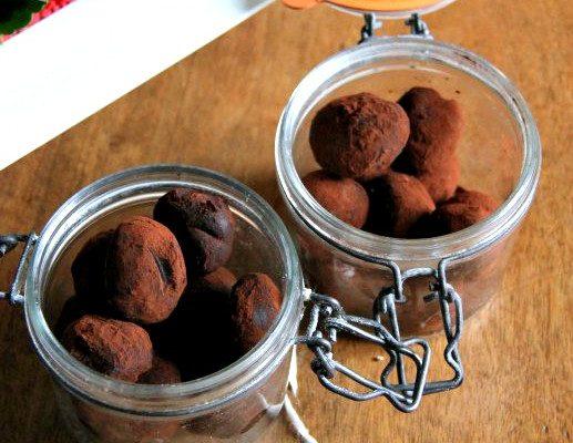 Truffes végétaliennes au chocolat