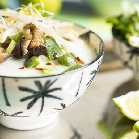 Soupe Tom Yam au lait de coco