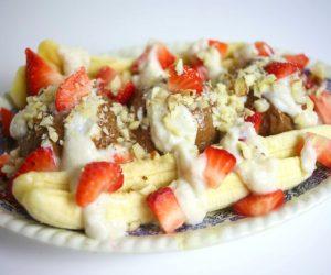 banana split cru vegan