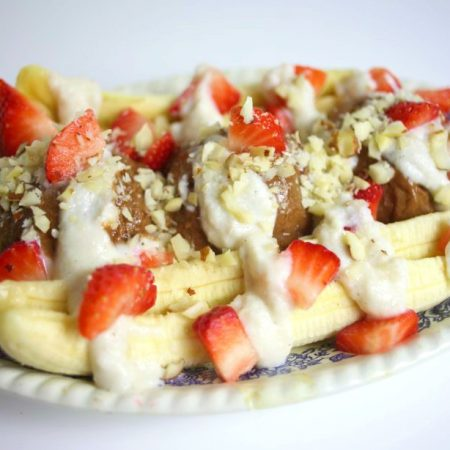 banana split cru vegan