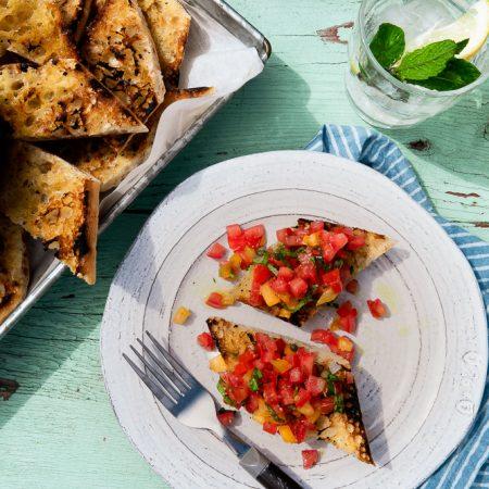 recette bruschetta tomate vegan