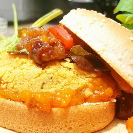 Burger aux saveurs indiennes