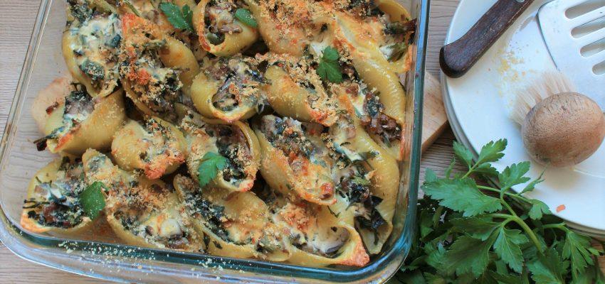 gratin pâtes champignons