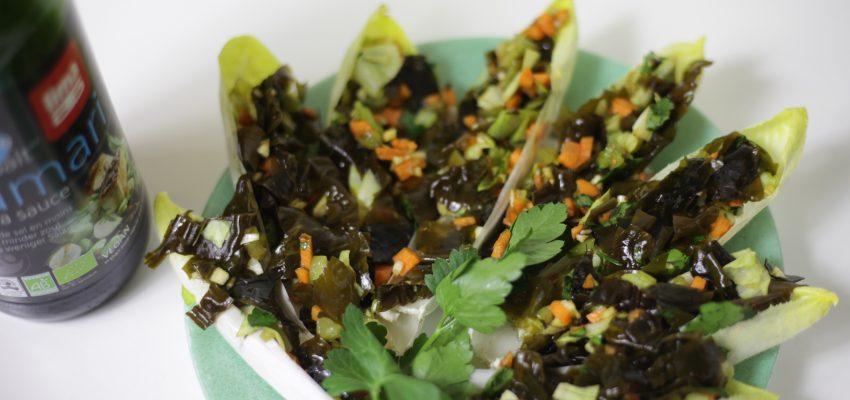 Endives farcies au tartare d'algue Kombu