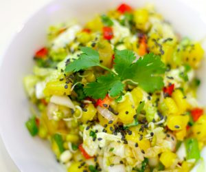 salade asiatique ananas vegan