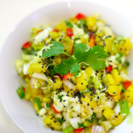 salade asiatique ananas vegan