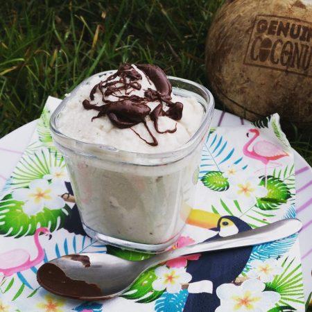 Crème glacée noix de coco et banane (crue)