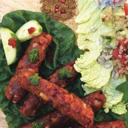 Merguez végétales sans gluten